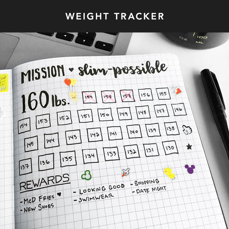 Use the grid pages on the back of your Passion Planner to help keep track of your fitness goals! Remember, that little progress adds up no matter how long you take. Keep going & reward yourself along the way.