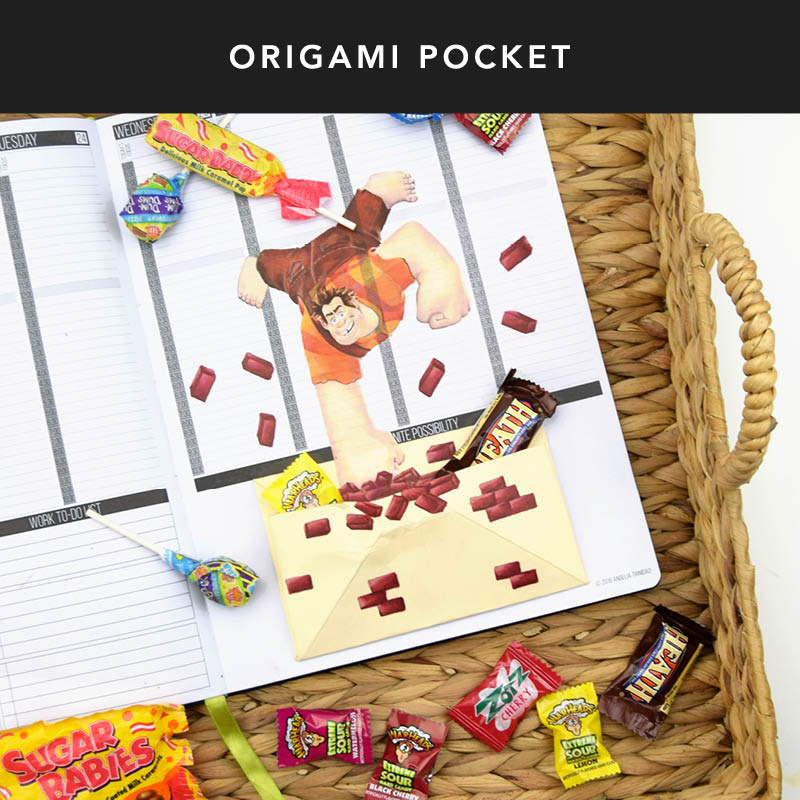 Want to keep things in your Passion Planner without taping all over your weekly layout? Here's one tip so you don't wreck-it! Fold an origami pocket for all your little keepsakes and tape it in your Space of Infinite Possibility!