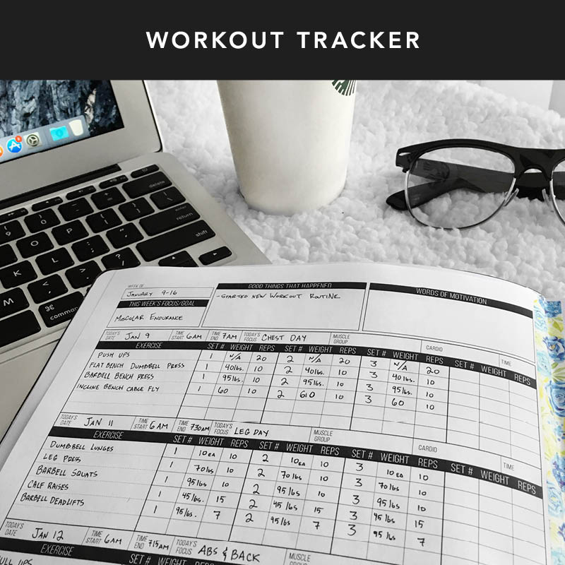 Get a head start on your fitness goals this year by downloading our FREE workout tracker!