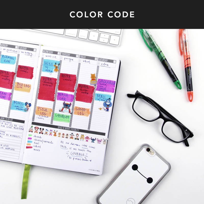 Do you have a couple favorite colors to use in your Passion Planner? Try creating a color legend to stay organized so you don't forget what those colors mean. This can help with organization and gauging how much time you spend in different parts of your life. Sometimes we need to balance out our lives. This is a perfect way to do just that! :)