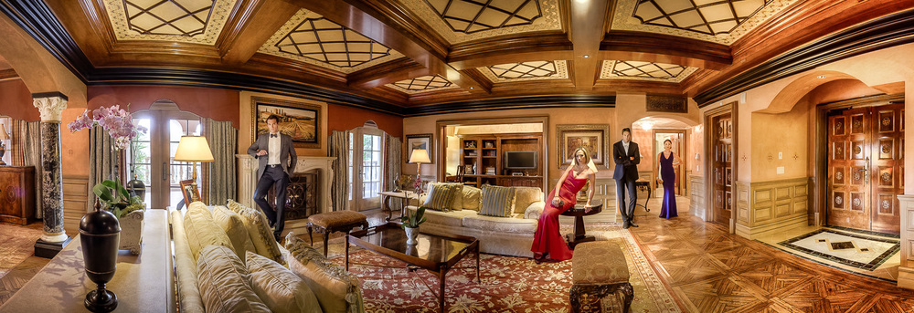 Again, locations matter. Styling matters. They both need to work together flawlessly. I feel so lucky to be able to shoot at The Grand Del Mar's Presidential Suite. So incredibly beautiful. The styling had a high standard to live up to for this one. And hence, formal evening wear from Bloomingdale's for the models. In 2014, you will see more and more formal wear in my portfolio.