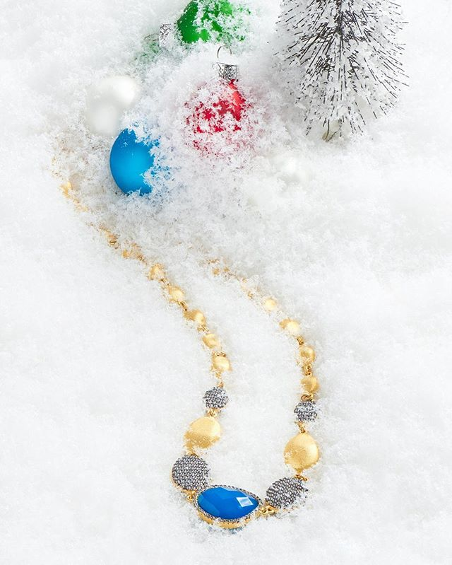 Thanks for an amazing 2016!  @freidarothman holiday editorial. Happy Holidays everyone! #happyholidays #jewelry #gift #stilllife #photography #photoshoot #bestoftheday #photooftheday #blue #gold #necklace #pretty #beautiful #stunning #nikon #elinchrom #snow #newyork #ny #nyc @nikonusa @elinchrom_ltd