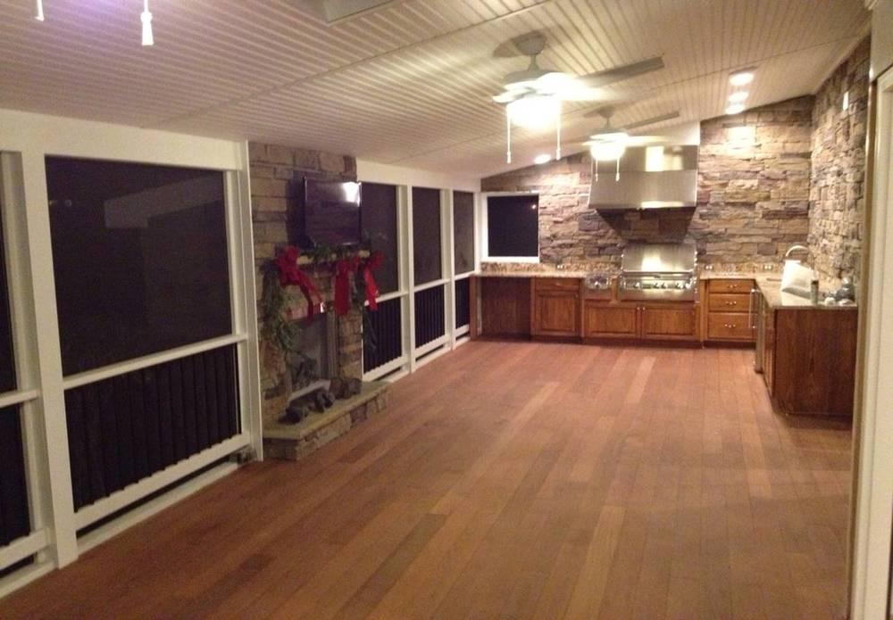 Screen Porch/Ext. Kitchen After