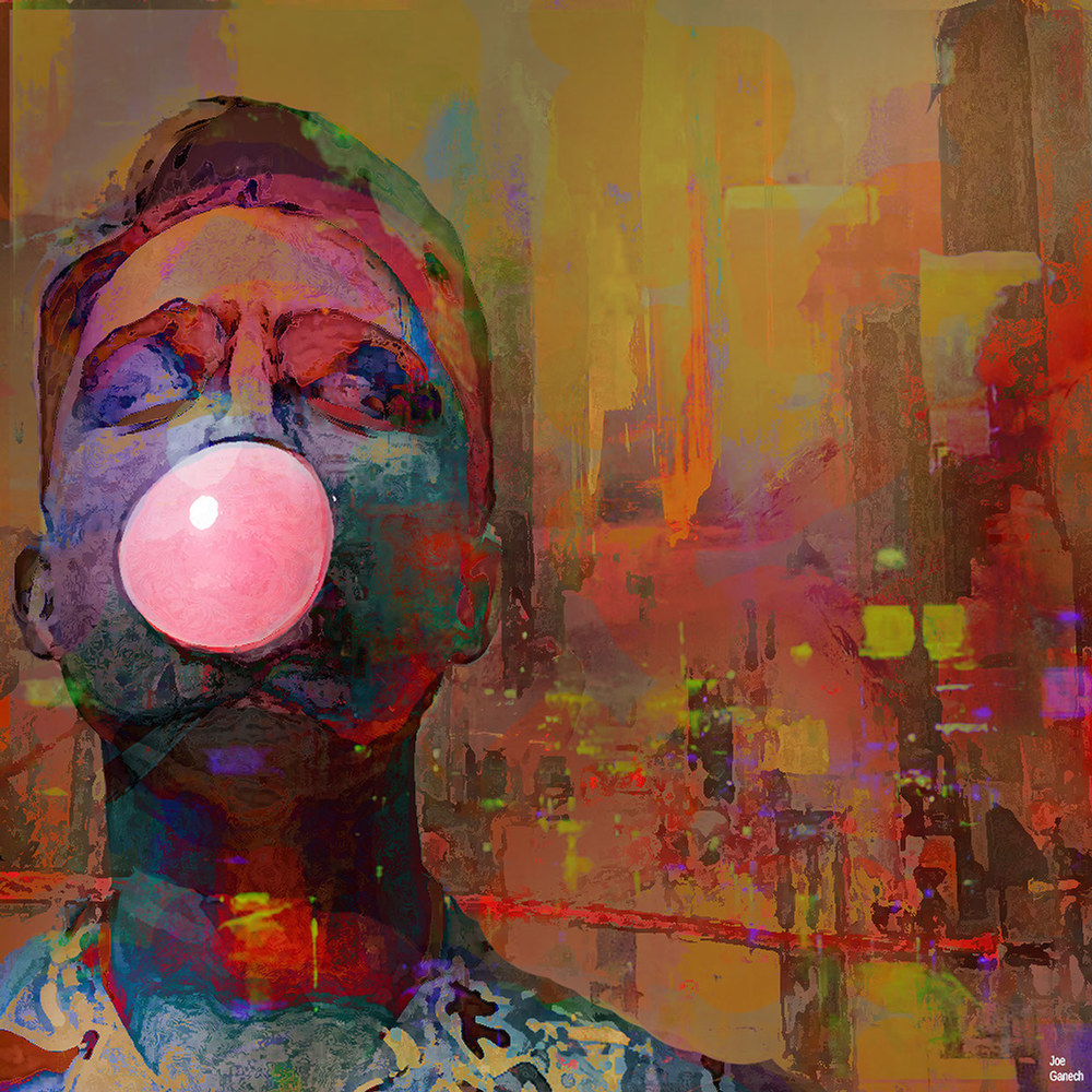 Bubble gum boy, by Joe Ganech.