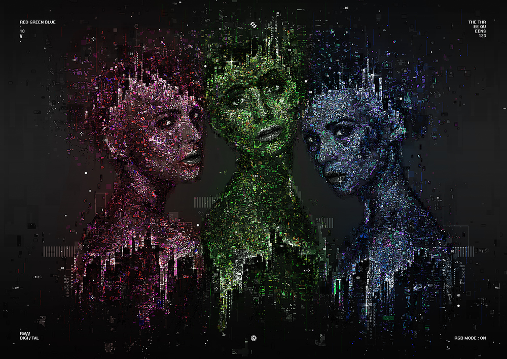 The three queens by Mart Biemans