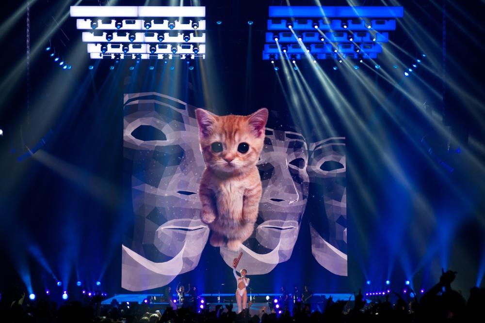 Miley Cyrus, Tacoma, 2014