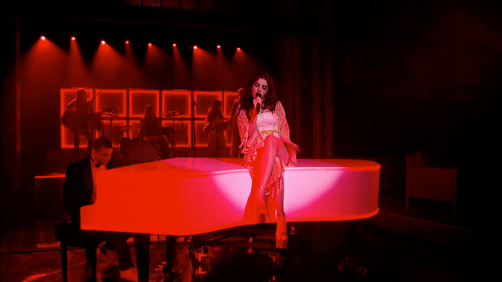 Charli XCX, David Letterman, 2014