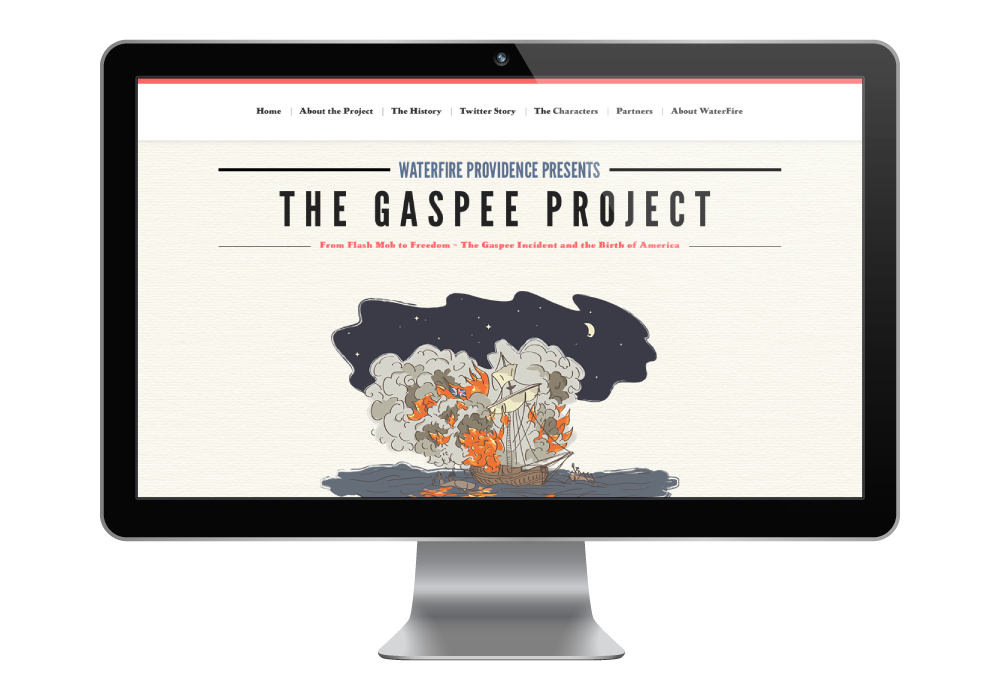 The Gaspee Celebration microsite designed by Studio Pie