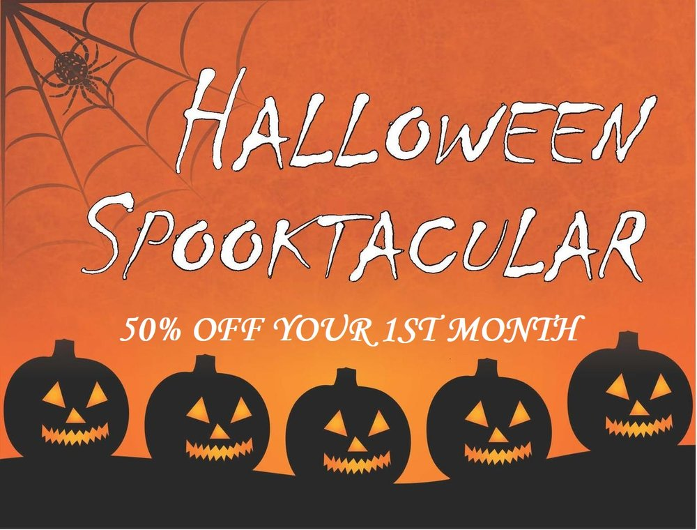 Access Halloween October self storage sale half price.jpg