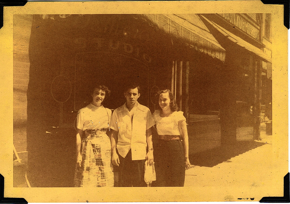 Family pride - A snapshot of Pap, Gram and my Great Aunt Marilyn in front of DeMore's Studio on Butler Street in Pittsburgh.