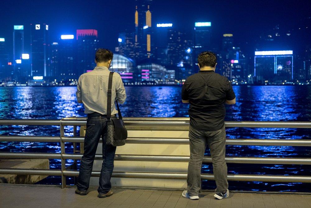 Blick von Tsim Sha Tsui (TST) zur Insel Hongkong
