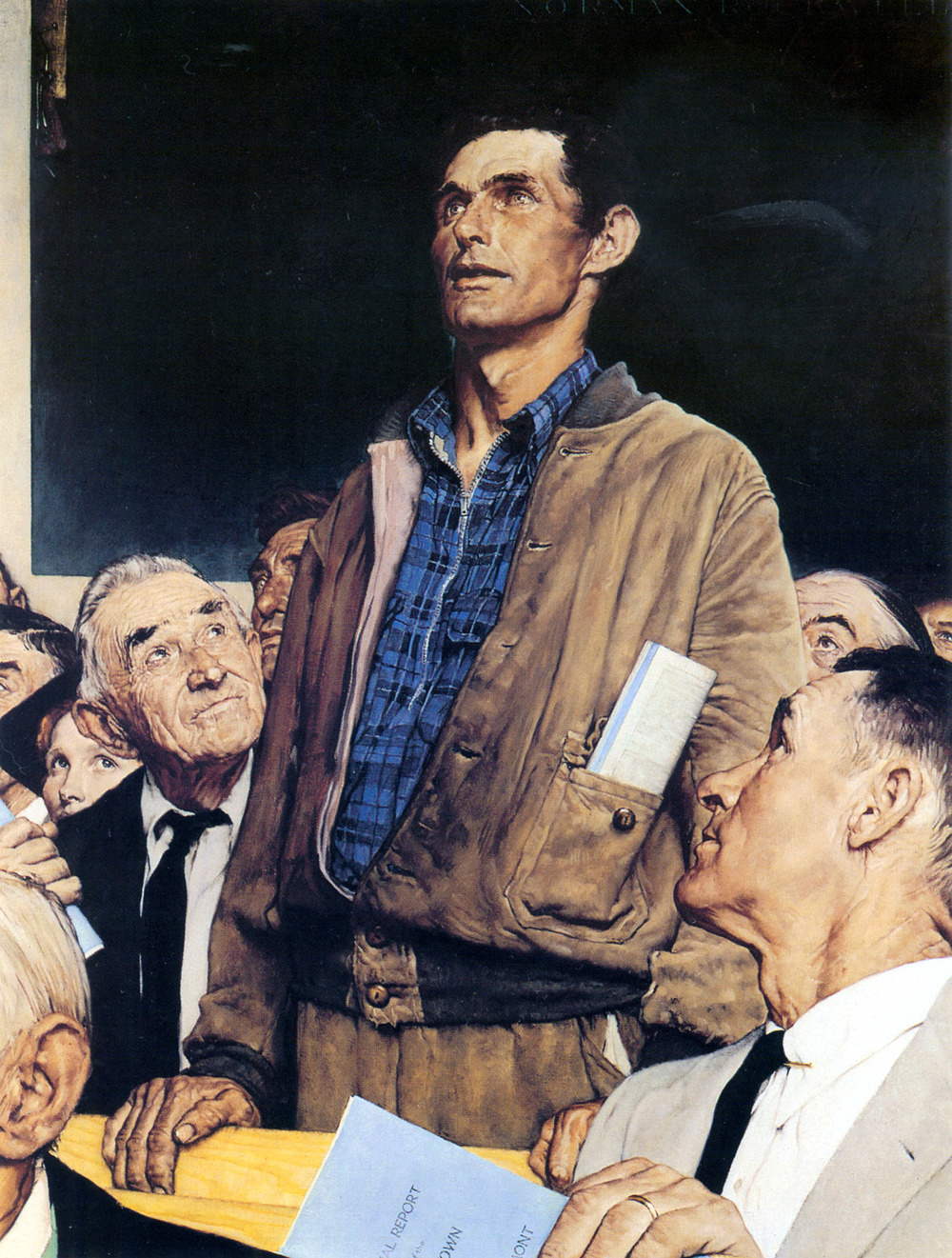 Norman Rockwell: Freedom of Speech (1943)