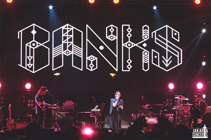 Penampilan Banks di We The Fest 2014 lalu Photo by: Melina Anggraini