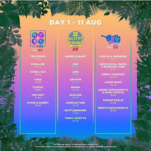 Today's set times for @we.the.fest ! See you guys there!