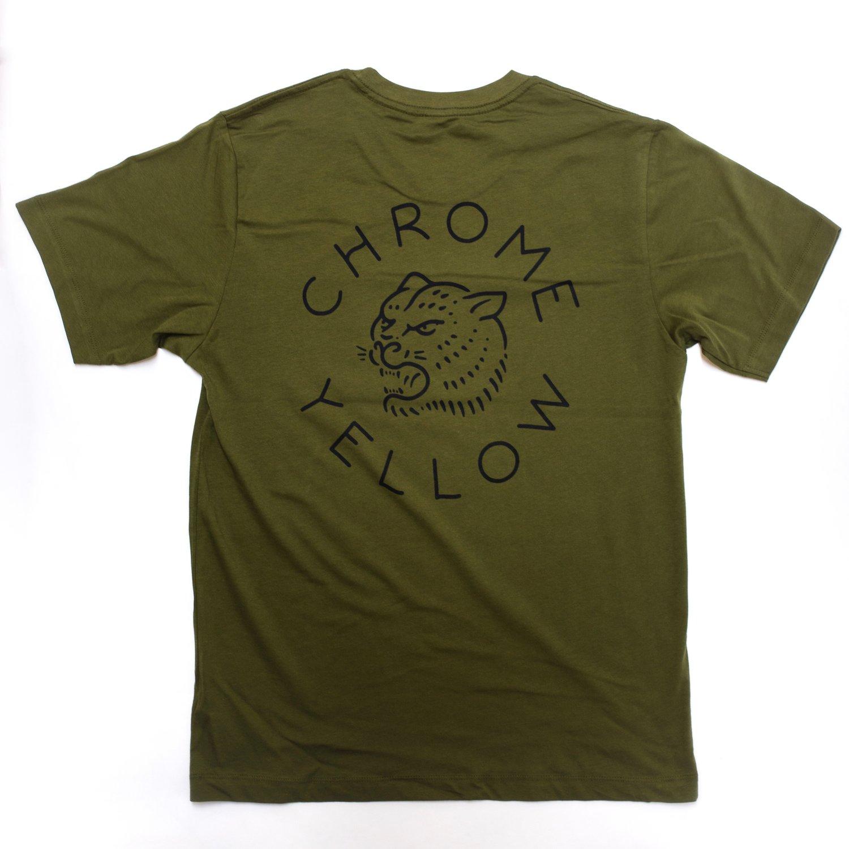 433152744a4d Chrome Yellow Tiger T-Shirt - Army Green + Black — Chrome Yellow ...