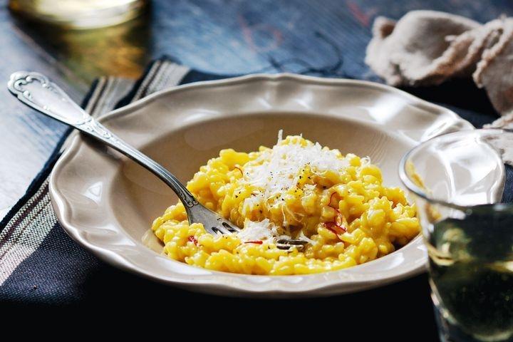 The classic Risotto alla Milanese. Source; taste.com.au