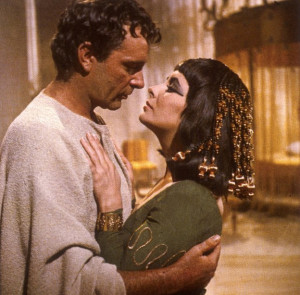 Elizabeth Taylor and Richard Burton in Cleopatra. Image from http://www.vividscribe.com/cleopatra/