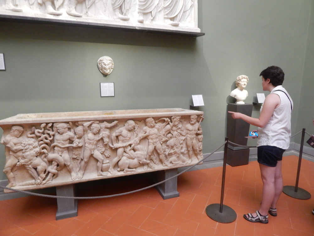 Figuring out the stories of Hercules represented on the sarcophagus