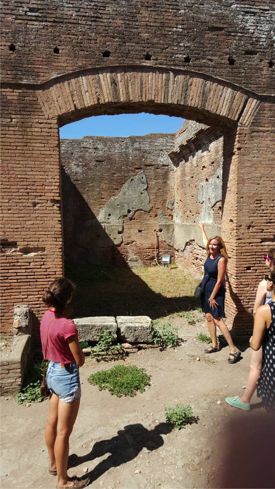 The entrance to a shop in Ostia Antica.