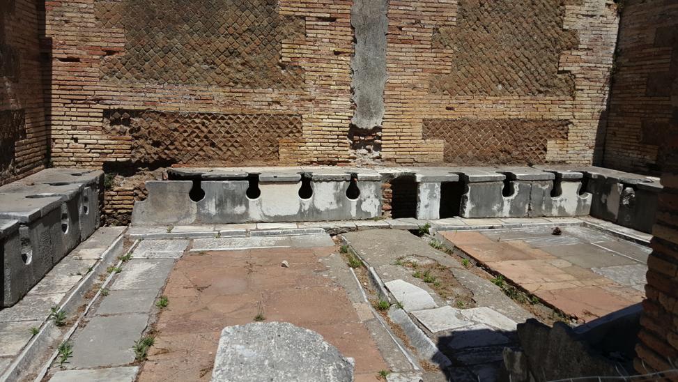 The communal latrines.