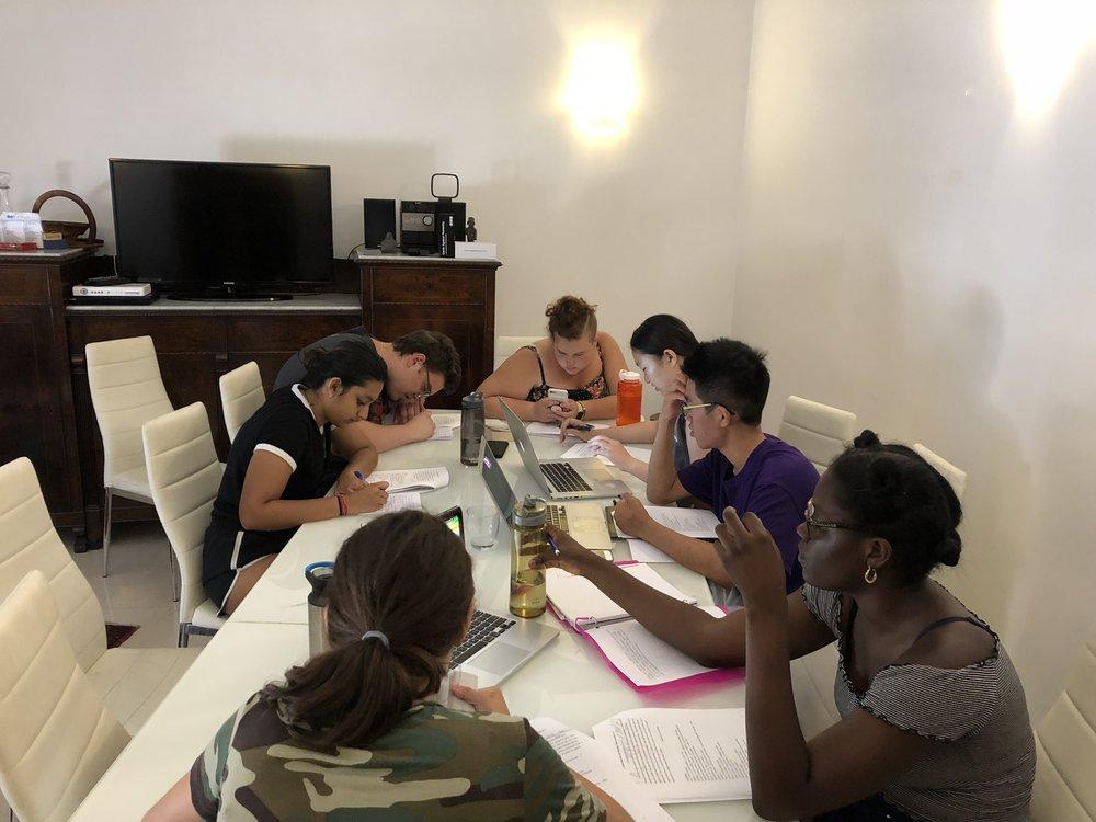 Rome group reading Latin.jpeg