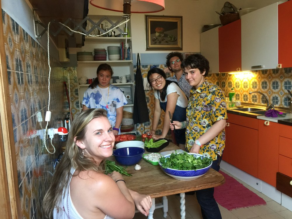 dinner at home flo 1.JPG