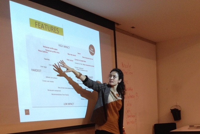 Presenting to the class at General Assembly