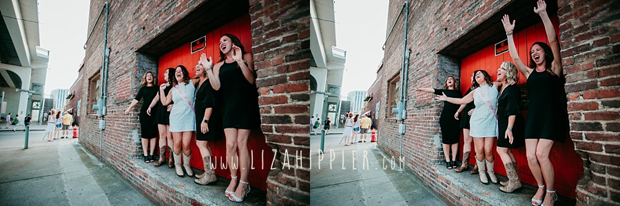 nashville bachelorette party brick wall