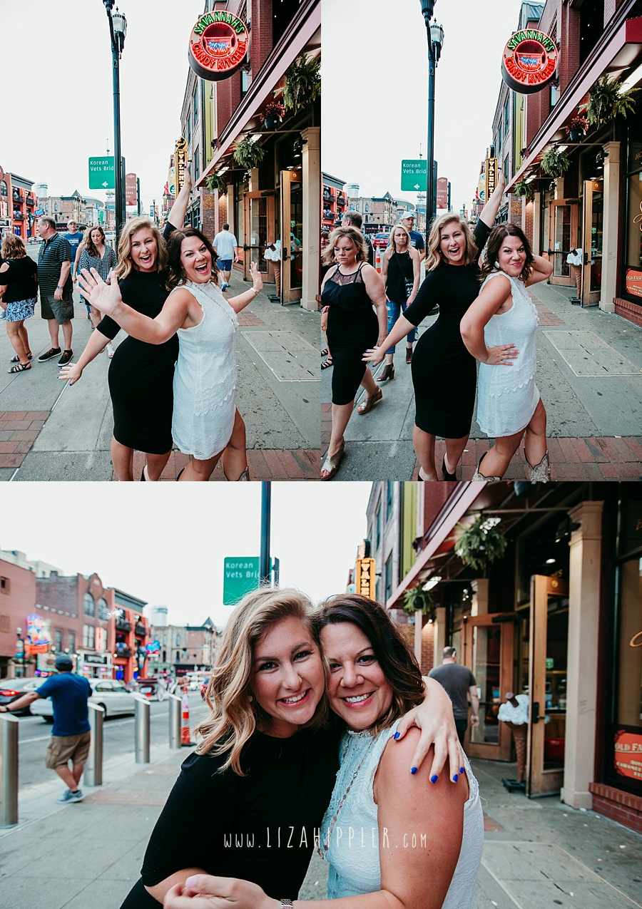 bachelorette and bridesmaid in Nashville TN