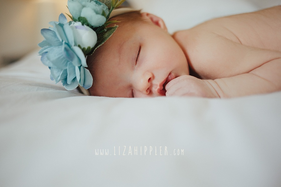 sweet newborn girl sleeping