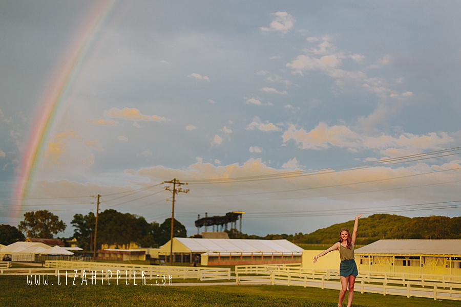 rainbow in senior photo shoot franklin tn