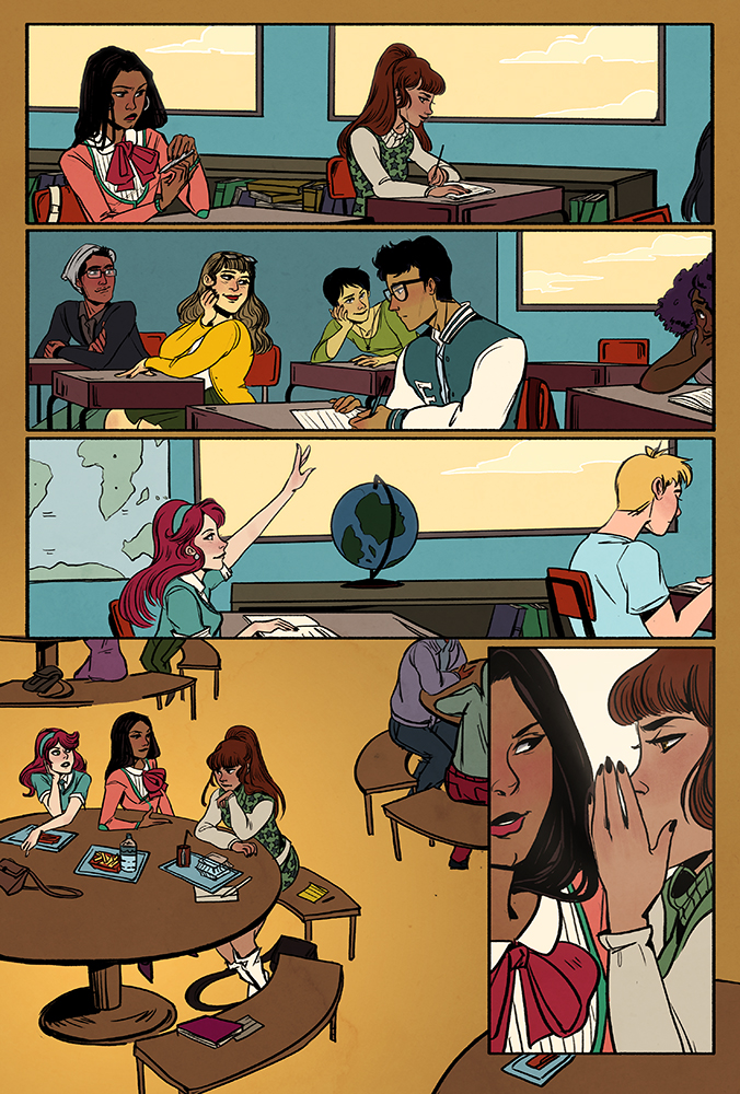 From Rosy Press's  School Spirit , drawn by Arielle Jovellanos & written by Kate Leth