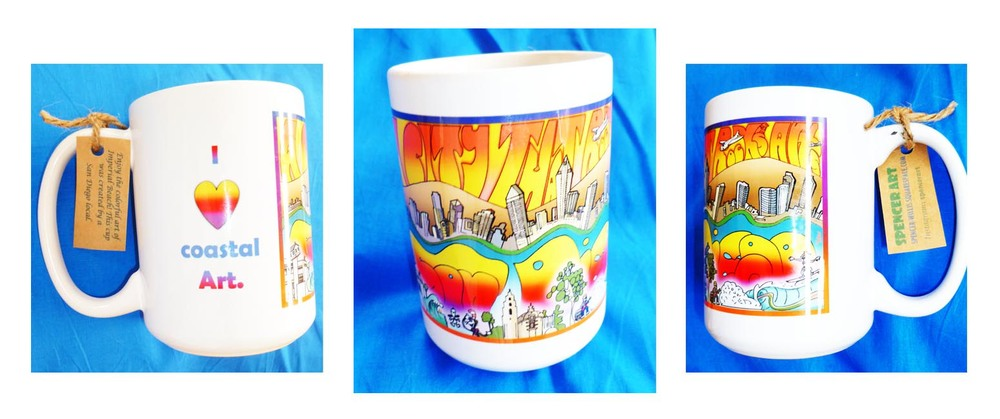San Diego Coastal Art Cup...click here to order!