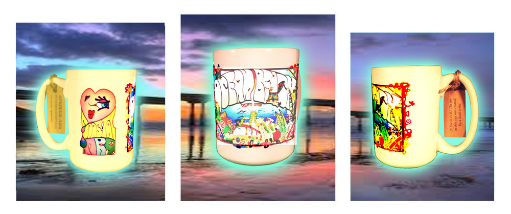 The Ocean Beach Coastal Art Cup- click here to order.