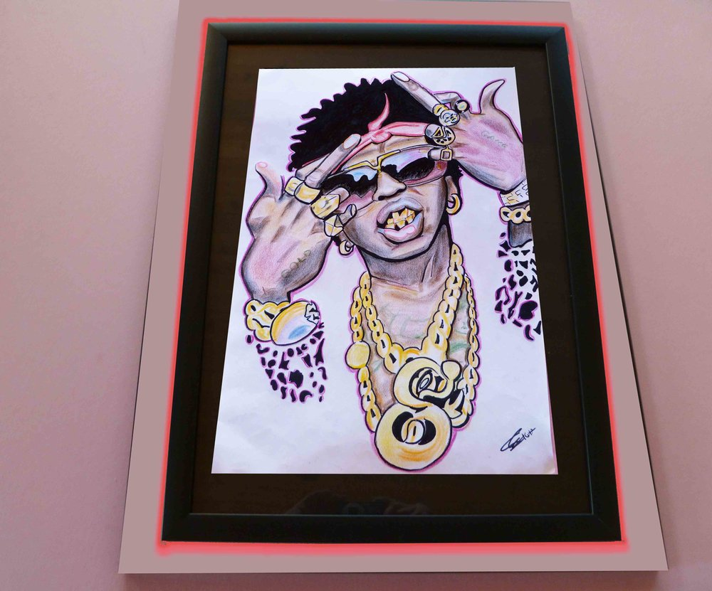 "Trinidad James. 15"" x 21"". $700"