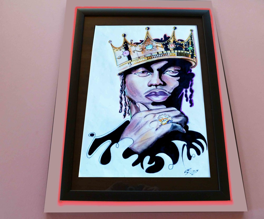 """Kendrick Lamar. 15"""" x 21"""" $700"""