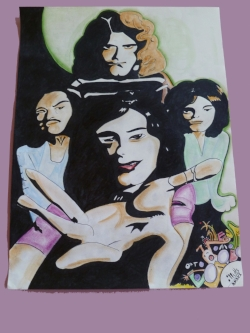 "Led Zepplin. $1,000 17"" x 34"". Unframed, un-matted.Original."