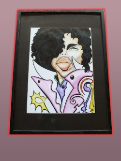 Prince. Framed, matted. Original. $500.