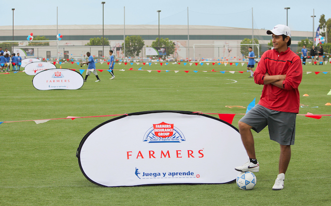 Farmers Insurance Sponsorship Copita America with Jorge Campos