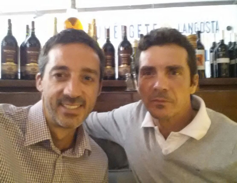 Mariano Brignole with Spanish National team player Guillermo Amor