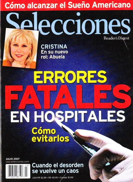 Selecciones, Cristina Saralegui, 2007