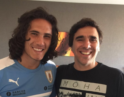 Edison Cavani and Carlos