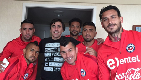 Carlos and the Chilean Nation team