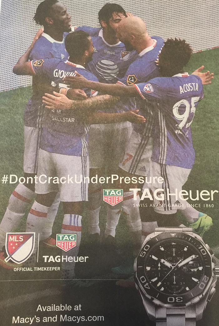 TAG Heuer, Giovani dos Santos, MLS Team