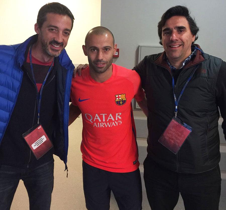 Mariano, Javier Mascherano, and Carlos