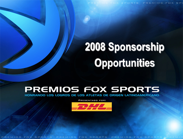 Premios FOX Sports DHL Sponsorship