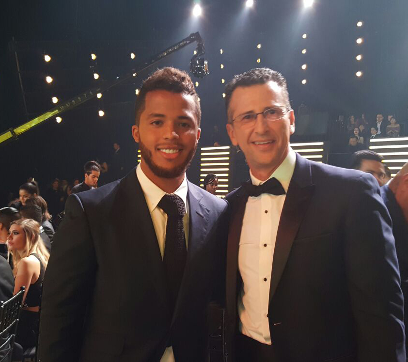 Gio and Felix Fernandez at the Univision Deportes Premios 2016
