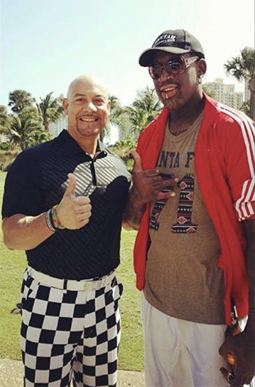 Edgar and NBA legend Dennis Rodman
