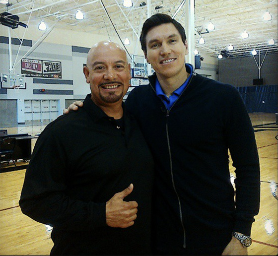 Edgar and retired NBA star Edgardo Najera