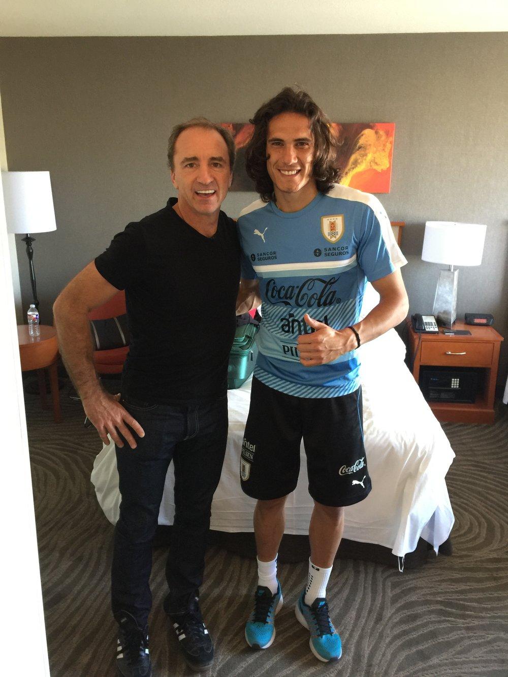 Dario y Edison Cavani en Seattle